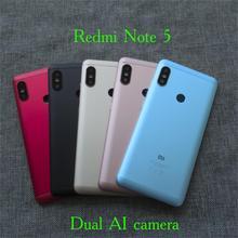 الأصلي الجديد الخلفي الخلفي غطاء باب البطارية الحافة الإسكان مع عدسة الكاميرا ل Redmi نوت 5/برو/رئيس كاميرا مزدوجة AI 636 CPU CE