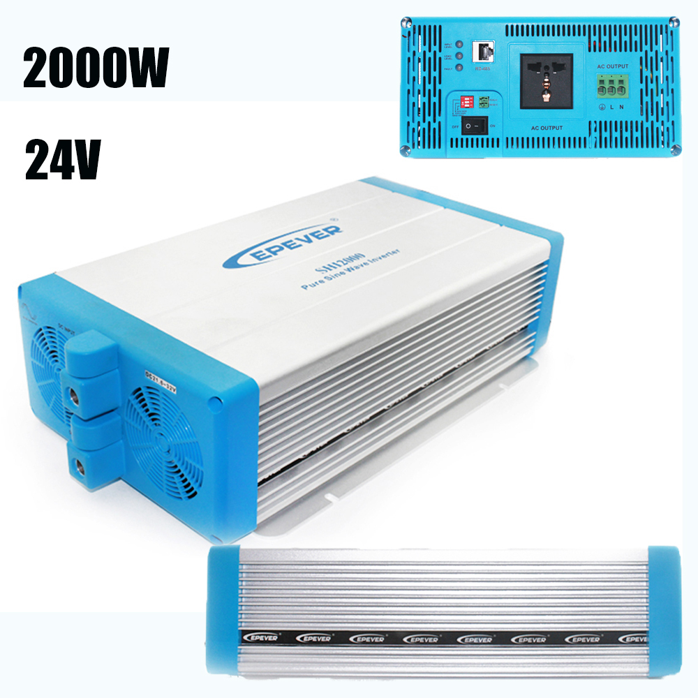 EPever SHI Series Pure Sine Wave Power Inverter 24V 220V 2000w High Frequency Grid Tie Inverter LED Indicators SHI2000-22