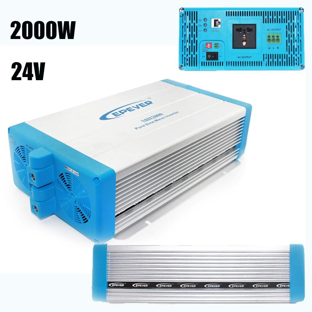 EPever SHI Series Pure Sine Wave Power Inverter 24V 220V 2000w High Frequency Grid Tie Inverter LED Indicators SHI2000-22 new arrival 220v pure sine wave power frequency inverter board 24v 36v 48v 60v 1500w 2200w 3000w 3500w hot selling