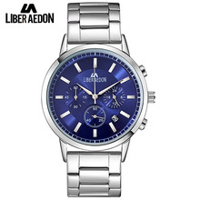 Liber Aedon 3 Colors Mens Watch Stainless Steel Top Brand Luxury Multifunction Men Watch Bussiness Sport