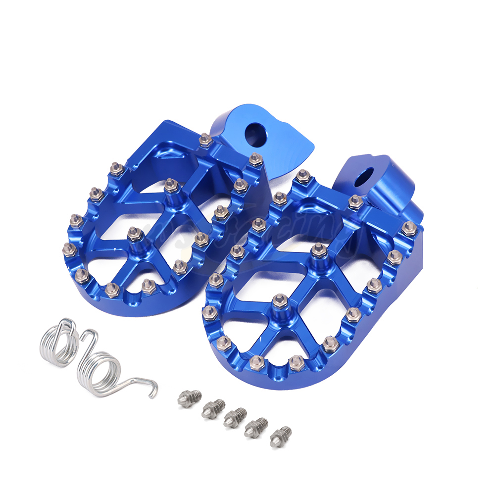 Billet MX Wide Foot Pegs Pedals Rest Footpegs For YZ 85 125 YZ125X YZ250 YZ250X YZF WRF 250 426 450 YZ 250FX 450FX WR400F WR450F