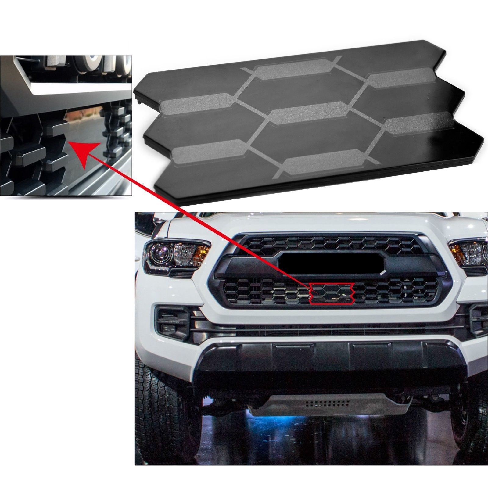 For Toyota Front Grille Garnish Radiator Sensor Cover for Tacoma 53141 35060 Car Accessories