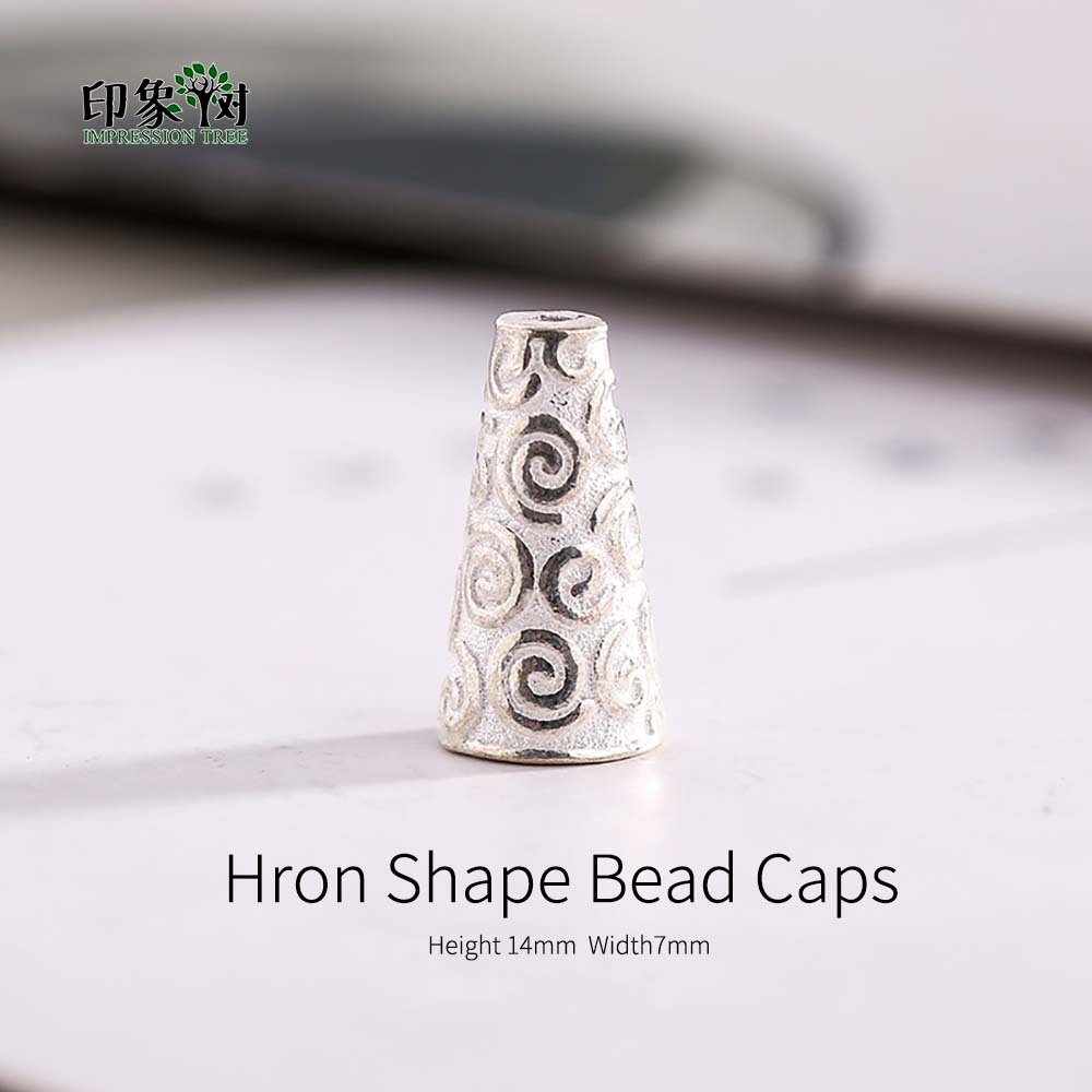 2pcs Horn Shape 925 Sterling Silver Beads Caps Tarboosh Shape Caps For Necklace Earring Fit DIY Jewelry Makings 92520