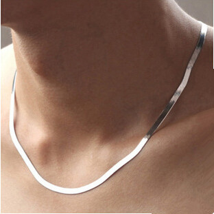 New Arrival Hot Sell Men Jewelry Snake Chain 925 Sterling Silver Men`s Necklaces Jewelry Birthday Gift Drop Shipping