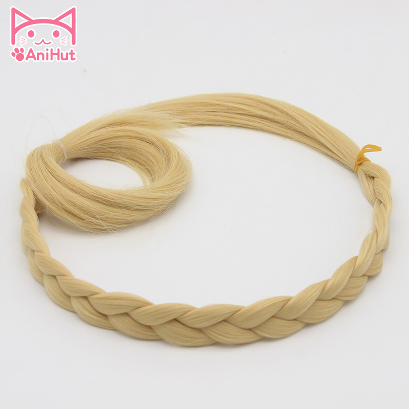 AniHut Mari Ohara Wig Love Live Sunshine Cosplay Wig Yellow Synthetic Hair Anime LoveLive Sunshine Cosplay Hair Mari Ohara