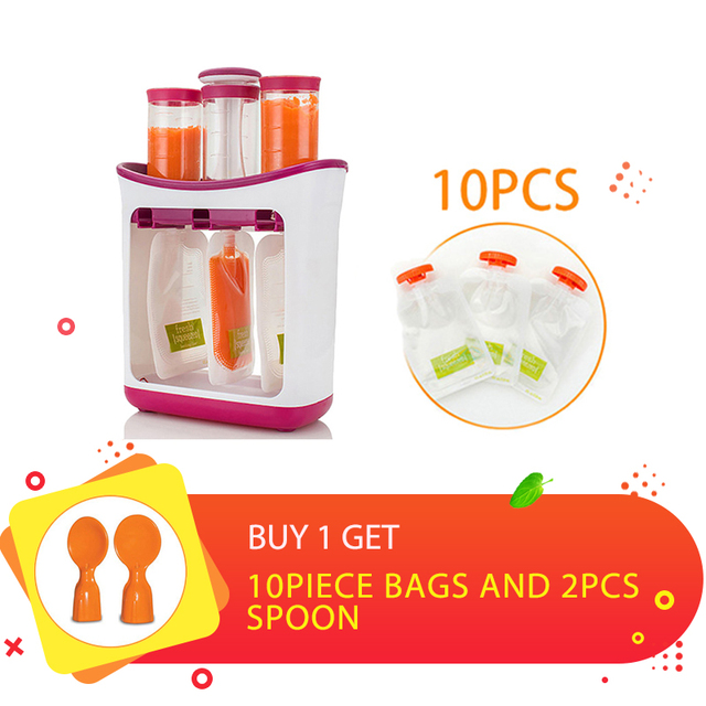 US $7 06 |Baby Food Containers Baby Food Maker Child Fresh Fruit Juice  Distributor Infant Strawberry Storage Newborn Feeding Accessories-in Baby  Food