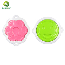 Kitchen Cooking Tools 4PCS DIY Plastic Creative Breakfast Sandwich Mold Cookie Cutter Baby Smiling Flower Bread Plunger Cutter kitchen plastic pineapple style bread mold coffee