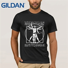 GILDAN VITRUVIAN MAN PLAYING THE GUITAR  DA VINCI GUITARIST LEONARDO PARODY T Shirt