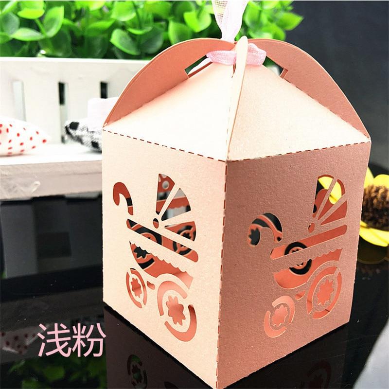 Gift Box Wedding Invitations: 100Pcs Printable Baby Carries Baby Shower Gift Box