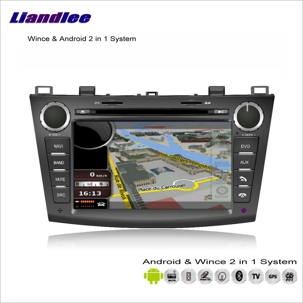 Liandlee Car Android Multimedia Stereo For <font><b>Mazda</b></font> <font><b>3</b></font> / VX-1 2010~2013 Radio CD DVD Player <font><b>GPS</b></font> Nav Navi <font><b>Map</b></font> Navigation Audio Video image