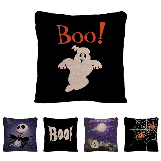Happy Halloween Cushion Cover Decorative Pillow For Car