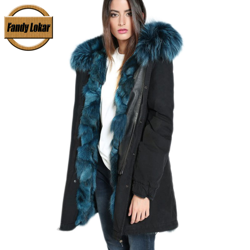 Army Green Black Raccoon Fur Collar Coat Women Winter Real Wolf Fur Liner Jacket With Hood Women Bomber Parka Ladies Coats printed long raccoon fur collar coat women winter real rabbit fur liner hooded jacket women bomber parka female ladies fp896