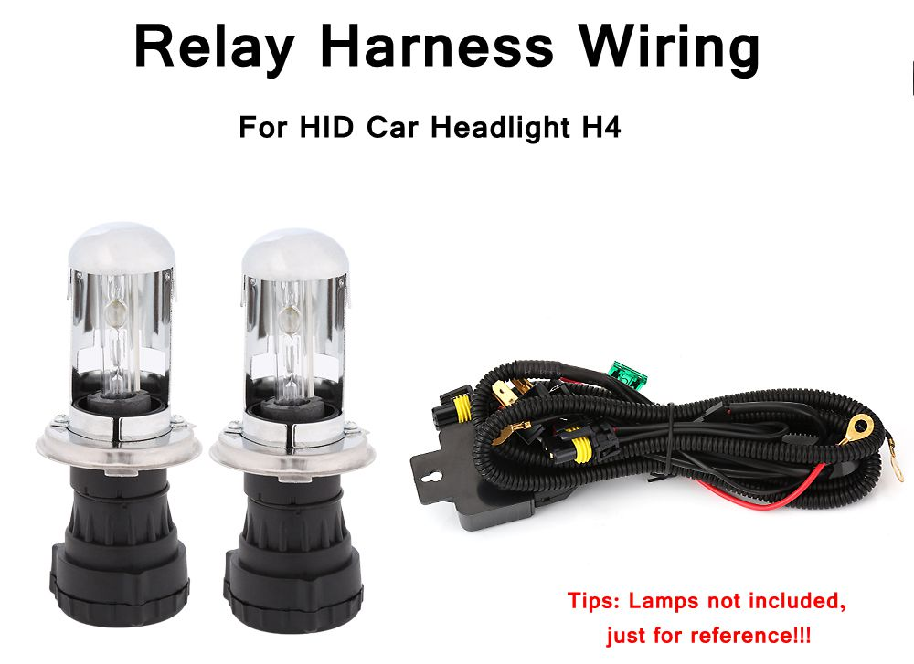 HID Headlight Wire Accessories HID Hi Lo Bi-Xenon Relay Harness Wiring Controller for HID Car Headlight H4 9003 H7 H1 H13 9008 1x original hella projector control wire q5 bi xenon hid projector solenoid wire plug pigtail set wiring car styling accessories