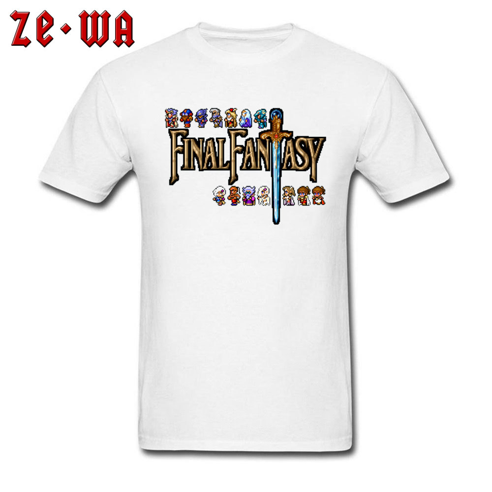Game Of Roles T-shirt Men Final Fantasy T Shirt Pixel Game Player Tshirt 2019 Funky RPG Top Tee Male Cotton Streetwear Letter image