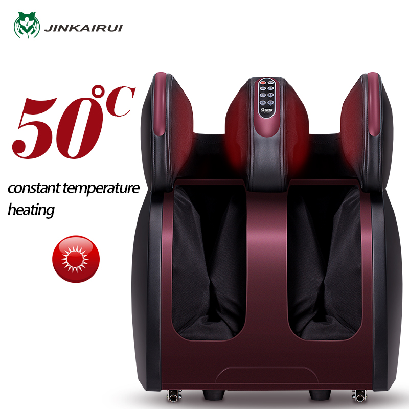 JinKaiRui Électrique Vibrant Massage des Pieds Infrarouge Chauffage Genou Jambe Veau Cuisse Massage Dispositif Air Pression Massagem Soulagement de La Douleur