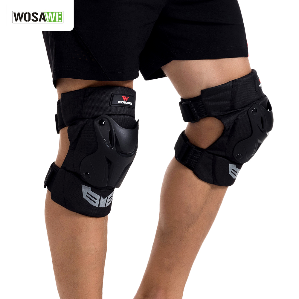 WOSAWE Motocross Knee Protector Brace Protection Riding Kneepad Motorcycle Sports Cycling Guard Protector Gear rodilleras moto in Motorcycle Protective Kneepad from Automobiles Motorcycles