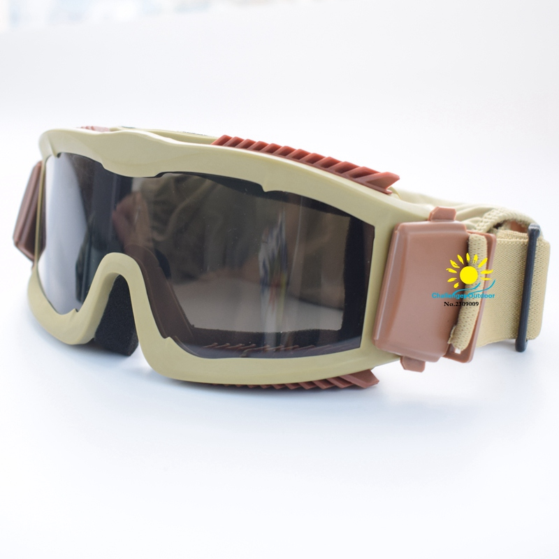 3color Airsoft Combat Military 3 Objektiv Tactical Goggles Army - Sportbekleidung und Accessoires - Foto 6