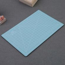 A5 Cutting Craft Mat PVC Self-Healing Office Home Paper DIY Tool Grid Lines Plastic Cut Pad Plate School Supplies Mint Green