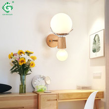 E27 Bulb Wall Light Creative LED Sconces Wooden Indoor Fixture For Home Living Room Bedroom bedside Hotel Night Lighting