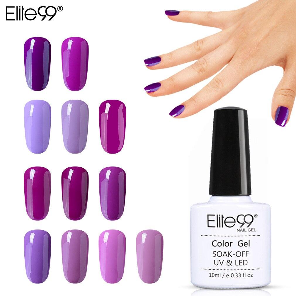ALI shop ...  ... 32814762661 ... 1 ... Elite99 10ML Gel Nail Purple Colors Fashion UV Gel Nail Polish Soak Off Vernish Semi Permanent LED Nail Polish Lacquer Gelpolish ...