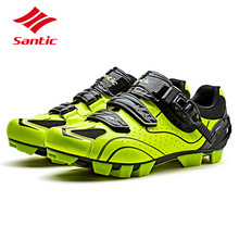 Santic Cycling Shoes 2018 Men Pro Mountain Bike Shoes Racing Team Self-Locking Athletic MTB Bicycle Shoes Zapatillas Ciclismo