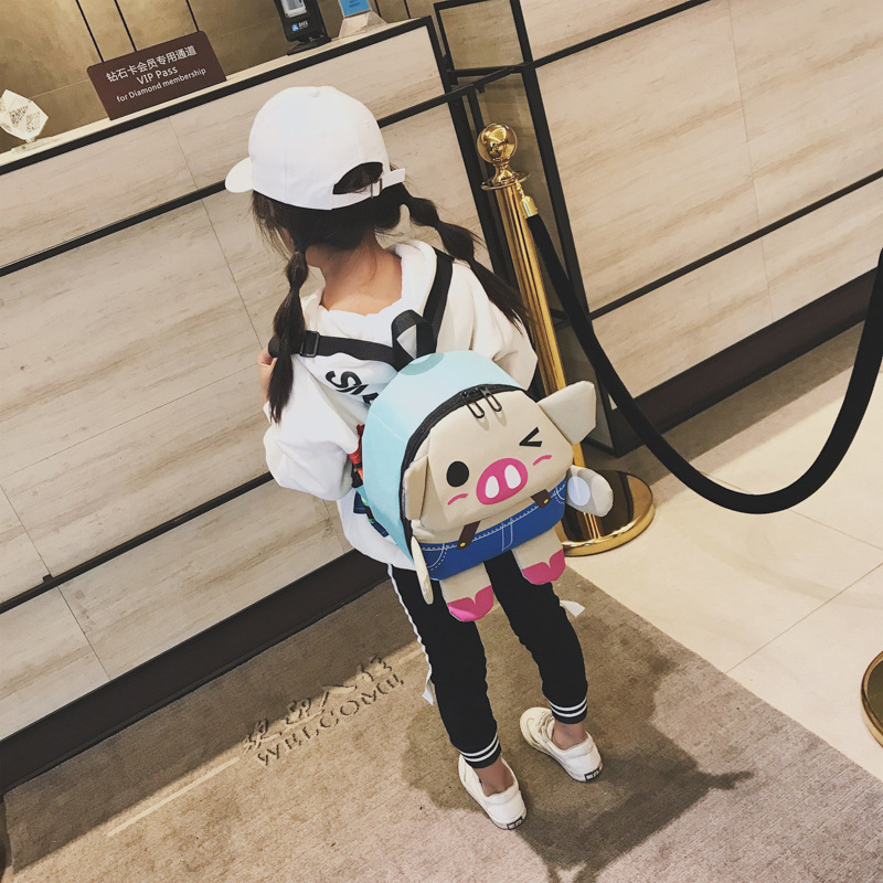 TikTok new childrens backpack piggy print cartoon cute kindergarten bag cute piggy bagTikTok new childrens backpack piggy print cartoon cute kindergarten bag cute piggy bag