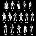 Star Wars Etiqueta Do Carro Da Família De Pai 1-13 Motocicleta Dos Desenhos Animados Decalques de Vinil Sliver C7-1314