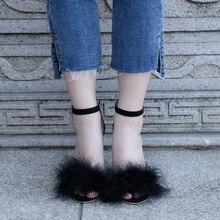 2018 г. пикантные Женские замшевые туфли-лодочки сандалии на каблуке с открытым носком женские босоножки Ремешок на щиколотке меха свадебные туфли Для женщин модельные туфли на высоком каблуке