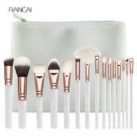 New 15pcs White Makeup Brushes Set Powder Foundation Contour Blusher Eye Kabuki Brush Complete Kit Cosmetics