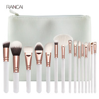 New 15pcs White Makeup Brushes Set Powder Foundation Contour Blusher Eye Kabuki Brush Complete Kit Cosmetics