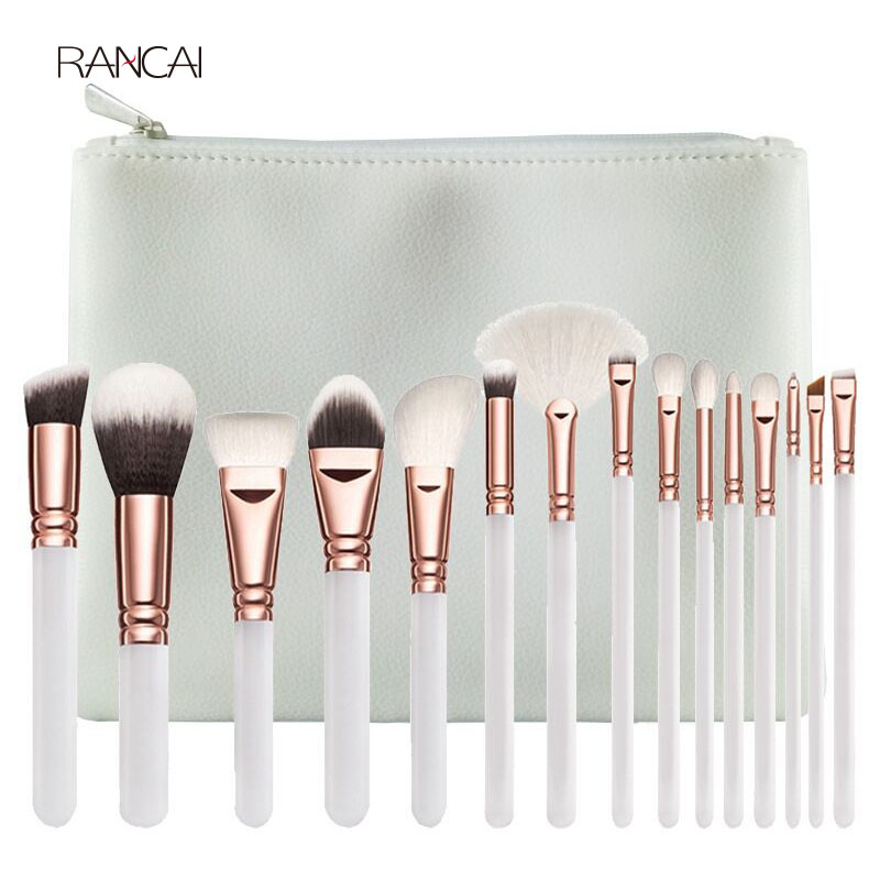 Tesoura de Maquiagem novidade 15 pcs makeup brushes Function 1 : Professional Brushes