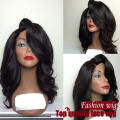 Side part Body Wave Synthetic hair full Lace Front wigs lace wig Wavy glueless lace front short wigs for black women
