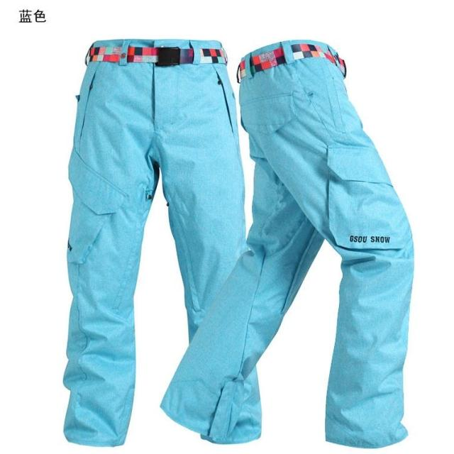 Gsou Snow outdoor ski pants Mens single plate and double plate thick winter cotton padded trousers брюки puma брюки winter padded pants mens
