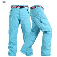 Gsou Snow outdoor ski pants Mens single plate and double plate thick winter cotton padded trousers