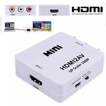 HDMI TO AV Scaler Adapter HD Video Converter Box HDMI to RCA AV/CVSB L/R Video 1080P HDMI2AV Support NTSC PAL all to hdmi 4k converter scaler switcher rca cvbs ypbpr vga hdmi to hdmi 4k scaler converter box