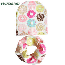 Baby Hat Scarf set 100% Cotton Infant hats set New Spring Autumn Winter Baby Cap Kids Boy Hat Cap Girls Beanies Children Scarf цена в Москве и Питере