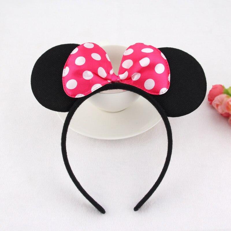 5pcs/lot Minnie Mouse Hairband Girls/Women Bezel Hair Band Plastic Headband