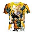 2016 Novo Design Dos Homens 3d Camiseta Dragon Ball Naruto One uma peça Anime T Camisa Mulheres Vestuário de Moda O-pescoço Camiseta Homme