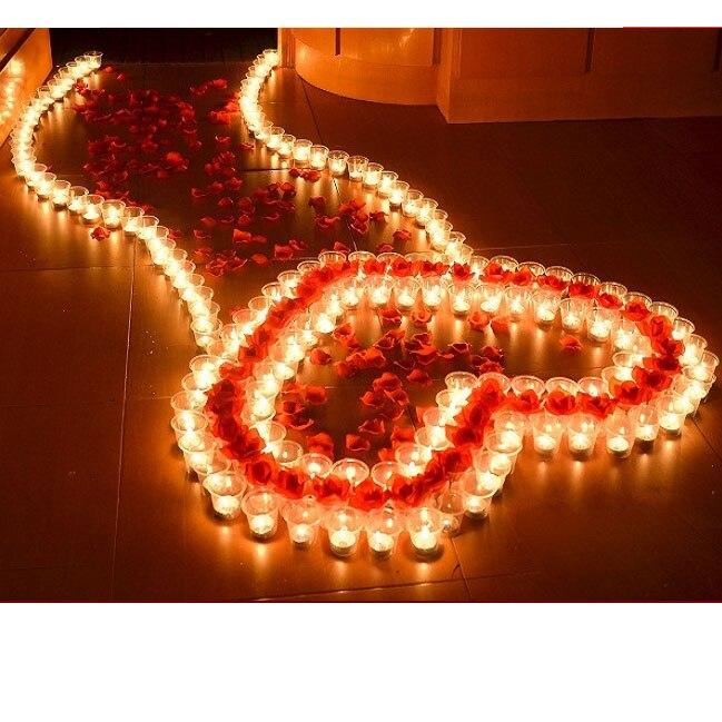 5 Unid Romántica Vela De La Boda Ronda Corazón Votivas Vela