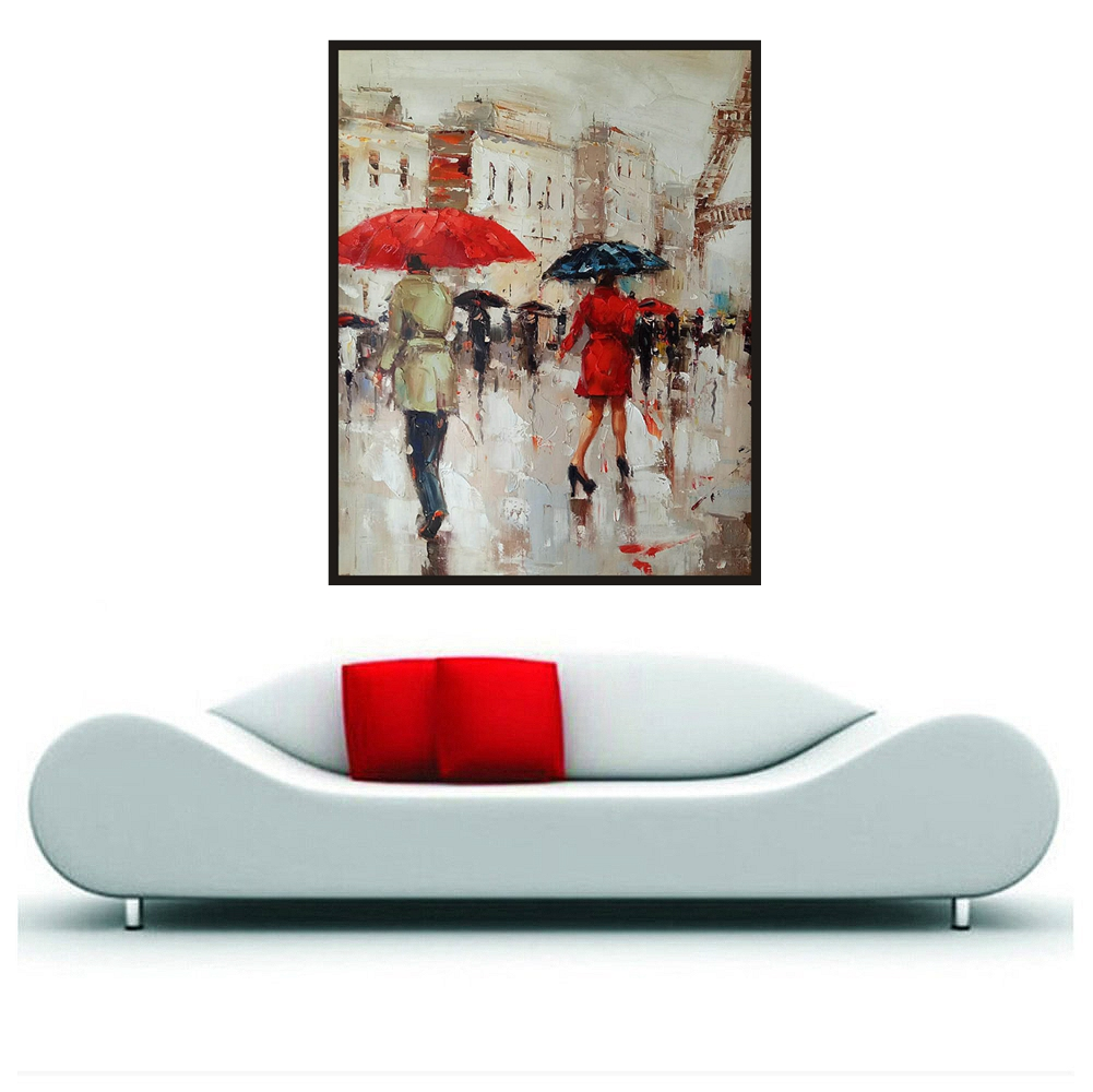 Rainy Day Landscape Hand Painted Canvas Oil Paintings Abstract Knife Oil Painting Art Christmas Decorations for Home Pretty GiftRainy Day Landscape Hand Painted Canvas Oil Paintings Abstract Knife Oil Painting Art Christmas Decorations for Home Pretty Gift