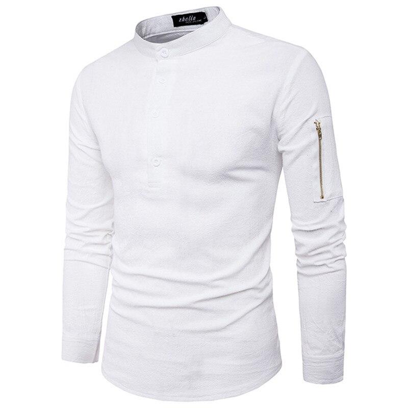 Black dress shirt mens zipper