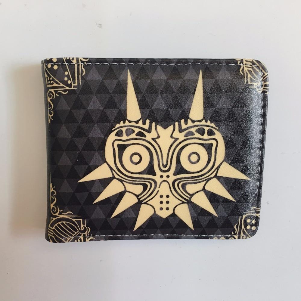 The Legend Of Zelda Button Wallet Coin Short Bifold PU Leather Handbag Card Holder W1162Y fullmetal alchemist edward elric anime wallet pu leather khaki color short bifold purse card holder of button money bag