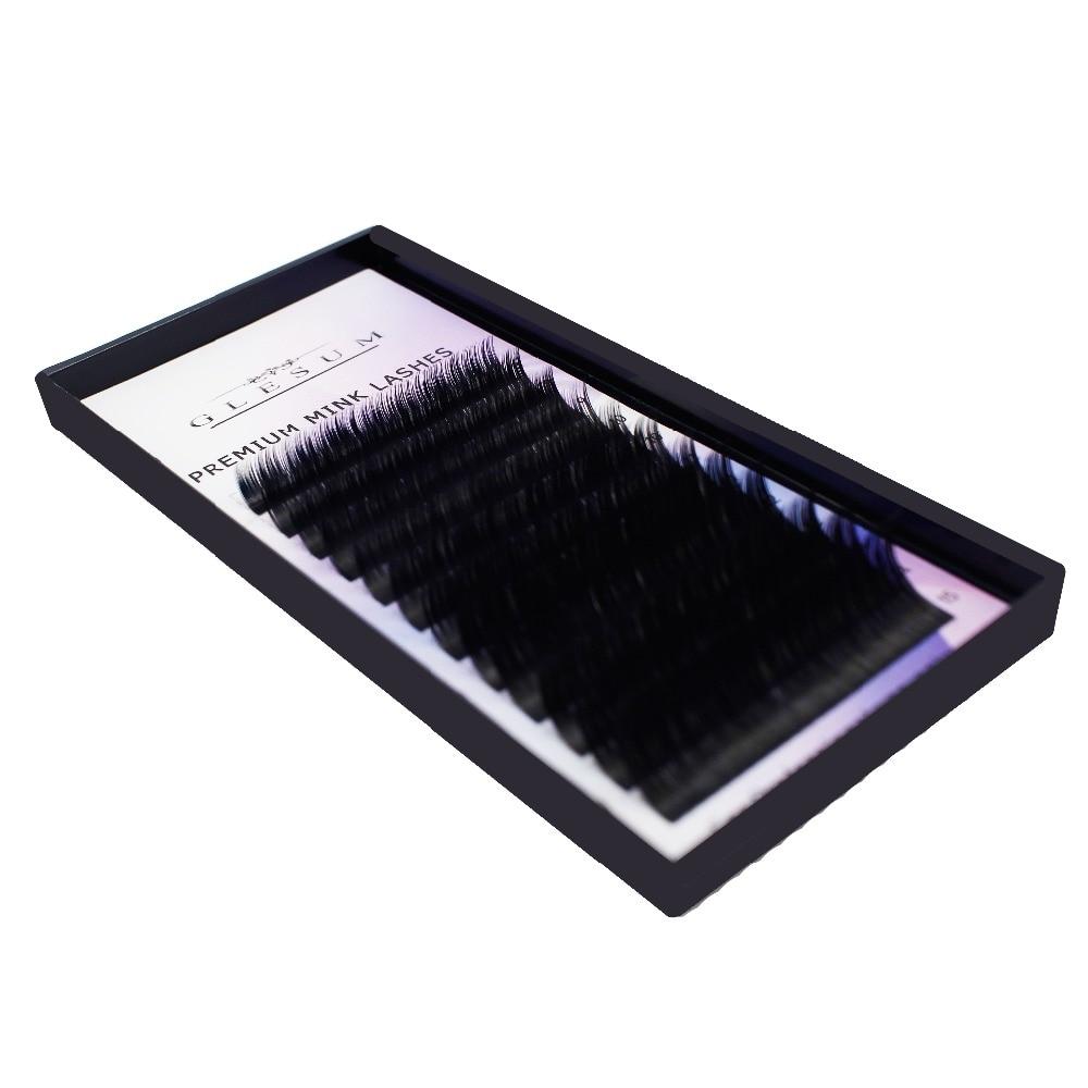 GLESUM 0.03C 13mm high-quality mink eyelash extension,fake eyelash extension,individual eyelashes,nature eyelashes
