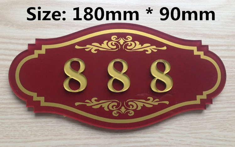 3 Digits house number card Villa apartment numb apartment door numbers room numberer 3 digits new classical european style pure copper house number card villa apartment number four digits free shipping