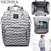 цена на VICIVIYA Designer Fashion Mummy Maternity Nappy Bag Large Capacity Baby Diaper Bag Travel Backpack Nursing Bag for Baby Care