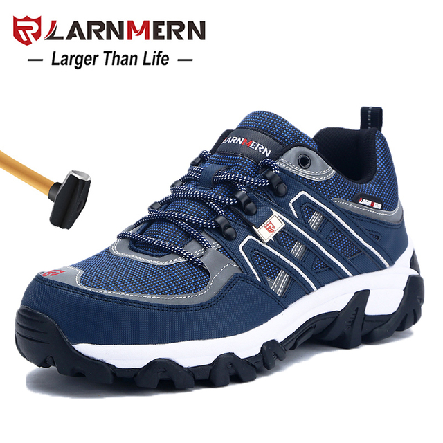 check out 98ff1 f2285 LARNMERN Men s Steel Toe Work Safety Shoes Breathable Anti-smashing  Anti-puncture Non-slip Construction Protective Footwear