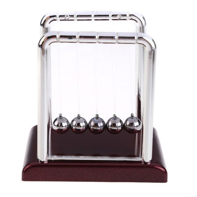 Newtons Cradle Steel Balance Ball Physics Science Pendulum Educational Toy