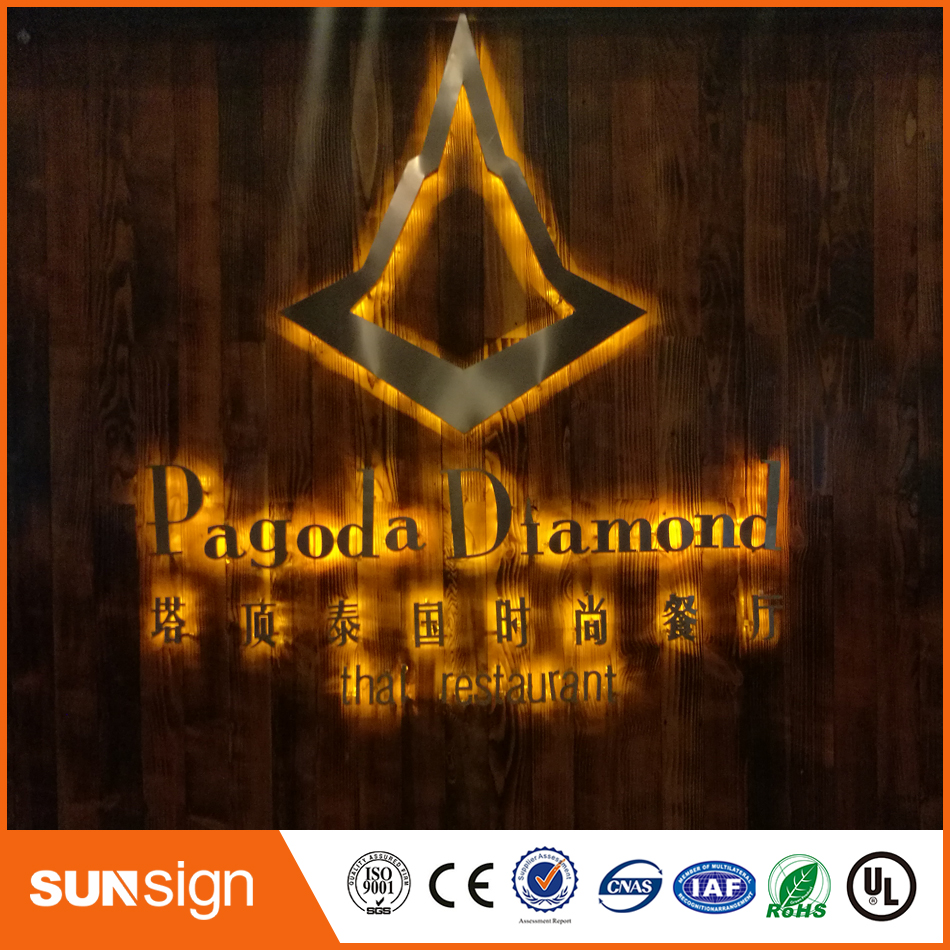 Aliexpress Stainless Steel Backlit Sign Shop Front Signage LED 3D Illuminated Letters Signs For Advertising Customized