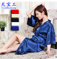 8 color Good quality sexy underwear Imitation silk nightgown Women nightwear women's sexy nightgown female temptation AW7657