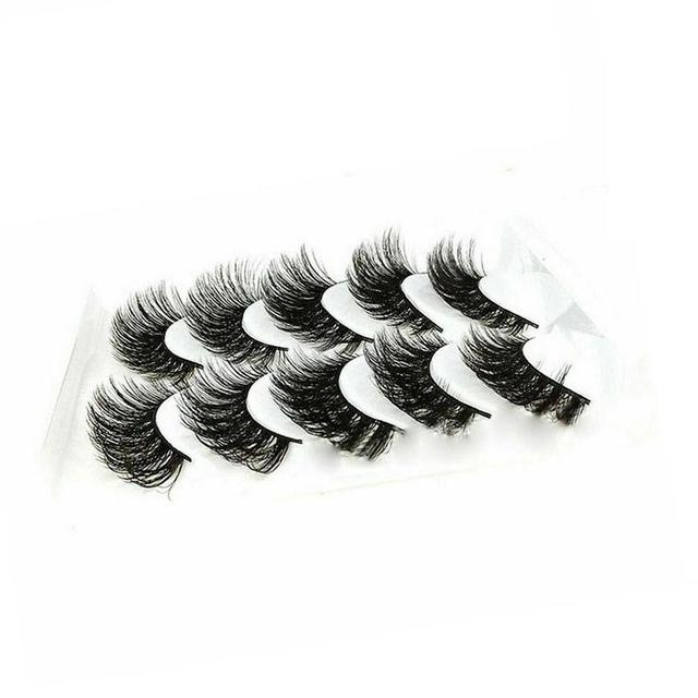 5Pair Mink Hair False Eyelashes Natural Cross False Eyelashes Long Messy Makeup Fake Eye Lashes Extension Make Up Beauty Tools 1